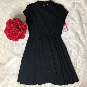 Xhilaration Black Collared Dress